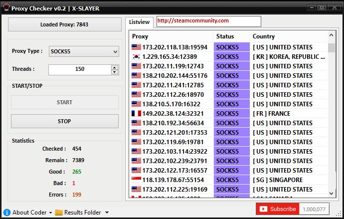 Proxy checker vb.net source