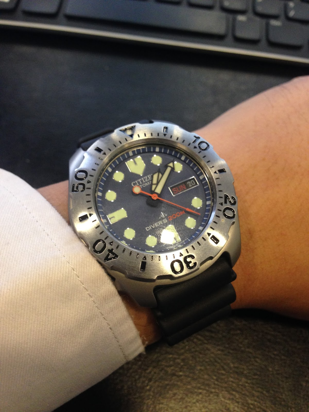 My eastern watch collection citizen promaster titanium diver ny0054 04l blue dial watch very - Citizen promaster dive watch ...