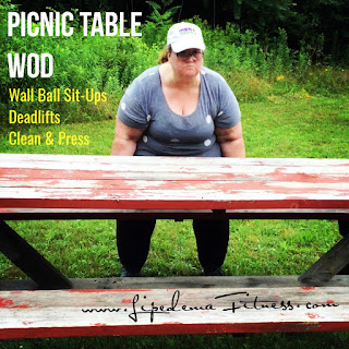 Using what is around you to get a great workout in; like deadlifting a picnic table!