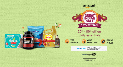 Amazon great Indian sale on daily essentials and consumable products