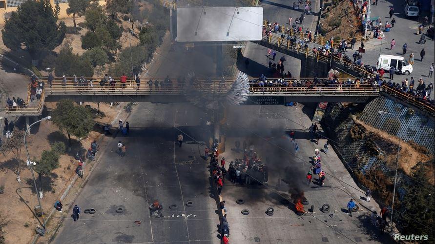 Bloqueadores concentrados en la Ceja de El Alto provocaron destrozos y millonarias pérdidas económicas a principios de agosto / REUTERS