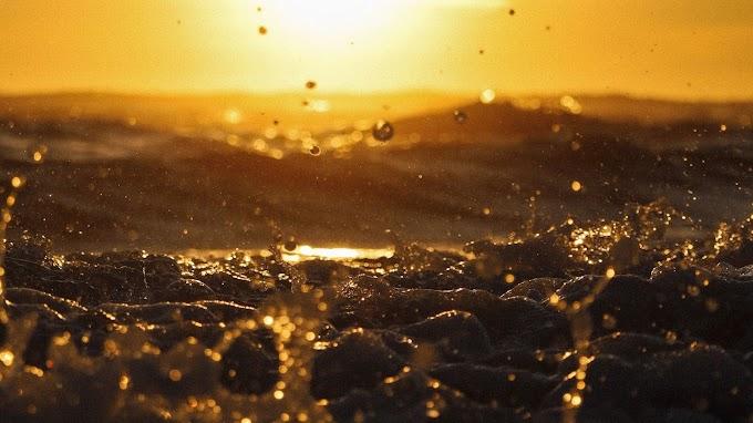 Papel de Parede para Celular Oceano Dourado