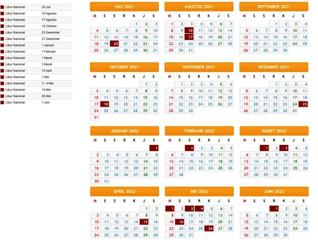 Terbaru Kalender Pendidikan Tahun Pelajaran 2021/2022 Provinsi Sumatera Barat