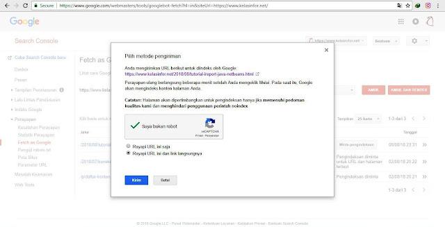 Kelas Informatika - Pilih Metode Submit URL Google Webmaster Tools