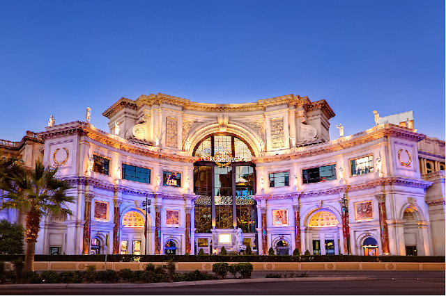 Shopping The Forum Shops no Caesars Palace em Las Vegas