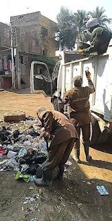 رفع 5طن من التراكمات والمخلفات بقرية  المدامود بالأقصر