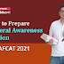 How to Prepare General Awareness Section for AFCAT II 2021