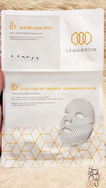 Review; LEAGUERTOX's Water Light Spot + Gold Foil See-Through Illumination Mask