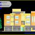 تحميل مخطط عمارة سكنية بطابقين اوتوكاد dwg