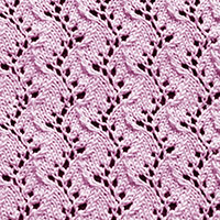 Eyelet Lace 34: Traveling Vine | Knitting Stitch Patterns.