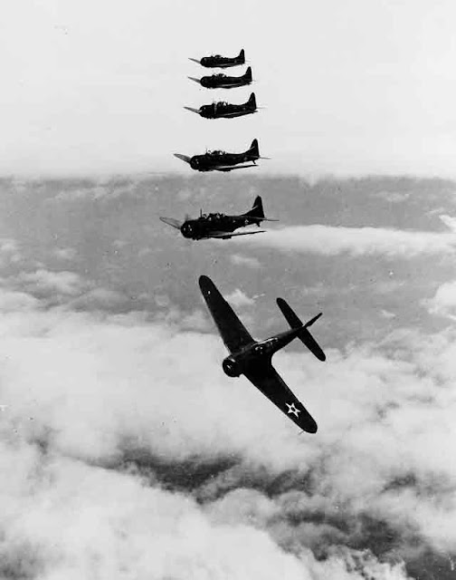Douglas SBD Dauntless dive bombers on 17 October 1941 worldwartwo.filminspector.com