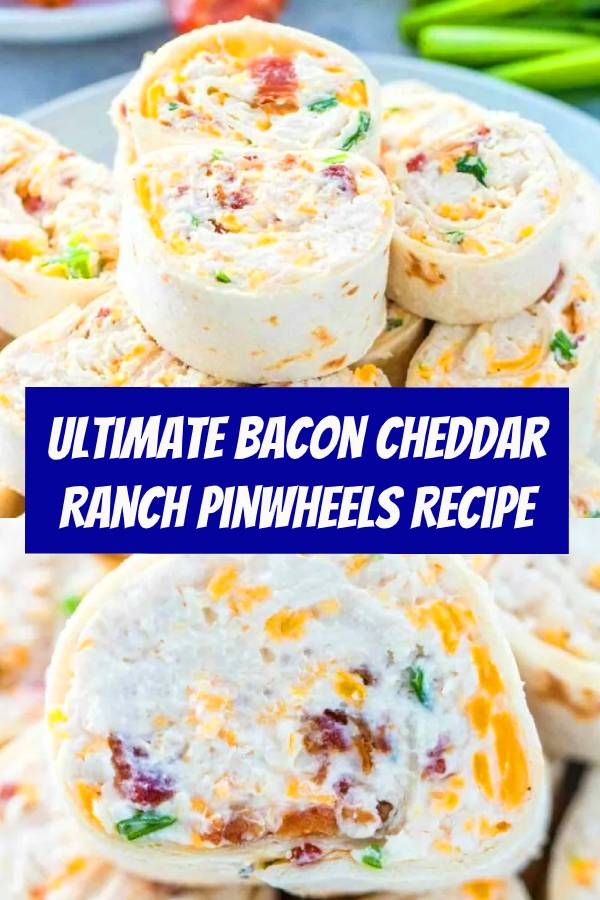 Bacon Cheddar Ranch Pinwheels are the ultimate party appetizers that you can put together in less than 20 minutes. #pinwheels #crackchicken #bacon #appetizers