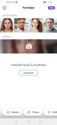طريقة إستعمال تطبيق FaceApp