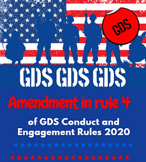 Amendment in rule 4 of GDS conduct and engagement rules 2020