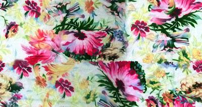 Floral textile repeat 7037