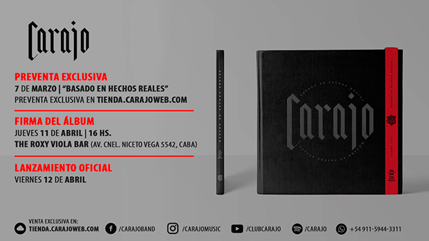 Carajo Lanzamiento Del álbum Basado En Hechos Reales