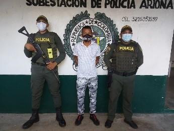hoyennoticia.com, Buscado por acceso carnal violento cayó en Arjona-Cesar
