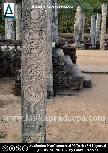 The carved pillars