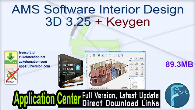 AMS Software Interior Design 3D 3.25 + Keygen