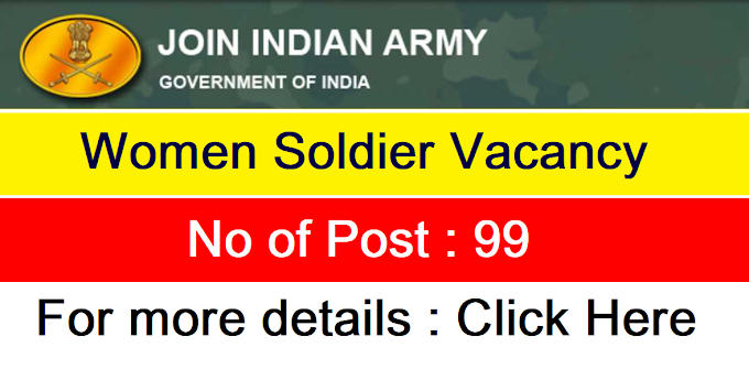 Indian Army Recruitment for 99 Soldier GD Posts 2020