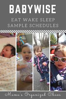 Newborn through toddler eat wake sleep schedules