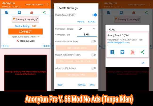 Download Anonytun Pro V. 66 Mod Unlimited Terbaru No Ads (Tanpa Iklan) Terbaru