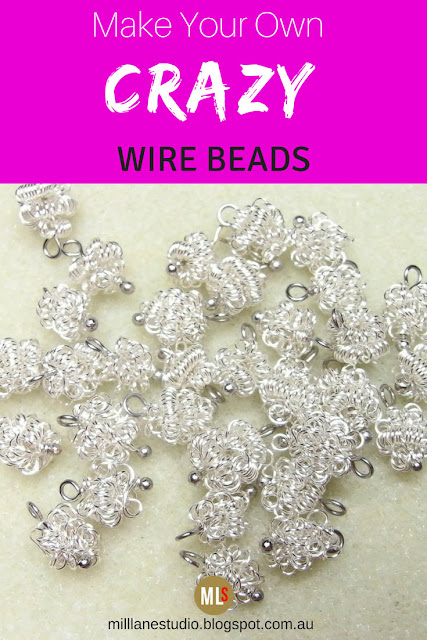 Collection of crazy wire beads