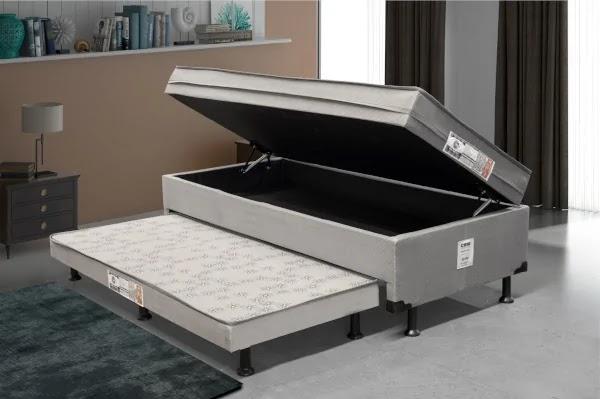 cama box bau 3 em 1 solteiro