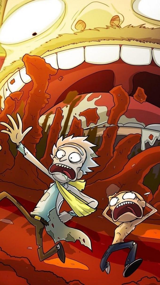 Tela de Fundo para Celular Rick and Morty