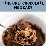 """THE ONE"" CHOCOLATE MUG CAKE"