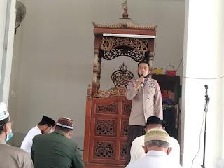 Sampaikan Himbauan Kamtibmas Ba'da Jumat, Bripka Burhanuddin Imbaukan Hal ini