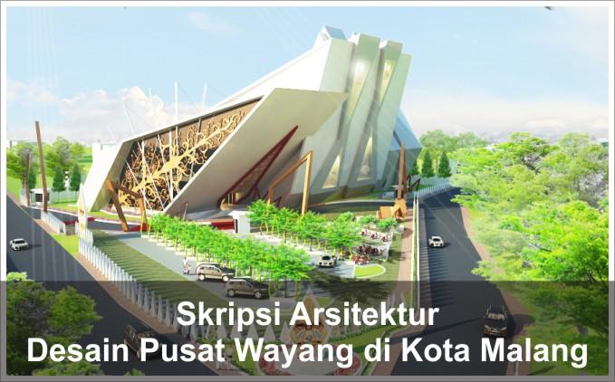 desain bangunan pusat wayang