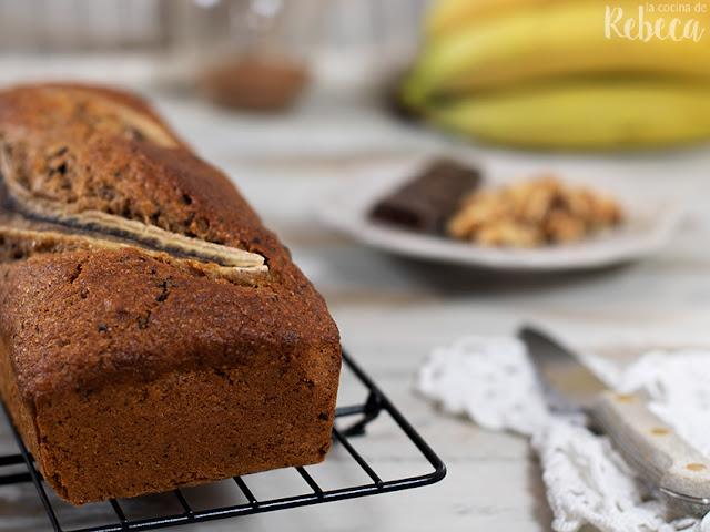 Banana bread (bizcocho de plátano)