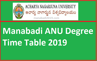 Manabadi ANU Degree Time Table 2019