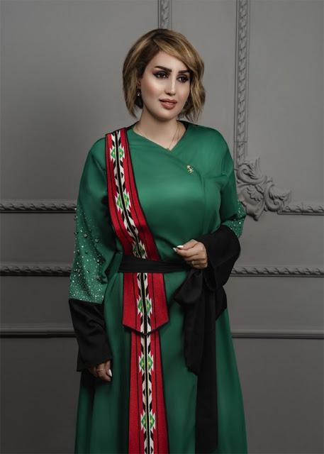 السعودية، سعودية تستوحي تصميم وشاح من شعار رئاسة المملكة لقمة الـ20، تصميم الأزياء، مصممة الأزياء أمل الغامدي، فيروس كورونا المستجد، حربوشة نيوز