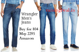 Wrangler Men's Jeans From 804 to 842 at Amazon rainingdeal.in