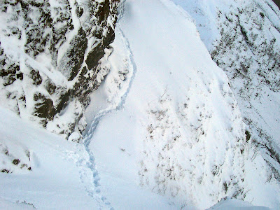 Avalanche conditions on Aonach Dubh