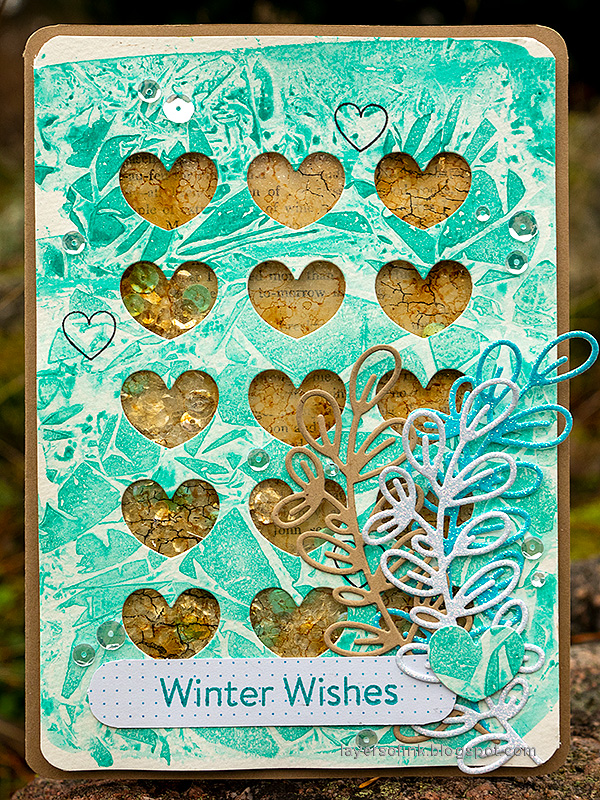 Layers of ink - Heart Shaker Card Tutorial by Anna-Karin Evaldsson.