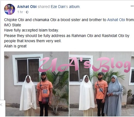Young Igbo Siblings Dump Christianity, Convert To Islam In Imo State (Photos)