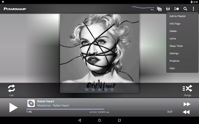 Poweramp Music Player Alpha Build 700 Cracked APK For Android