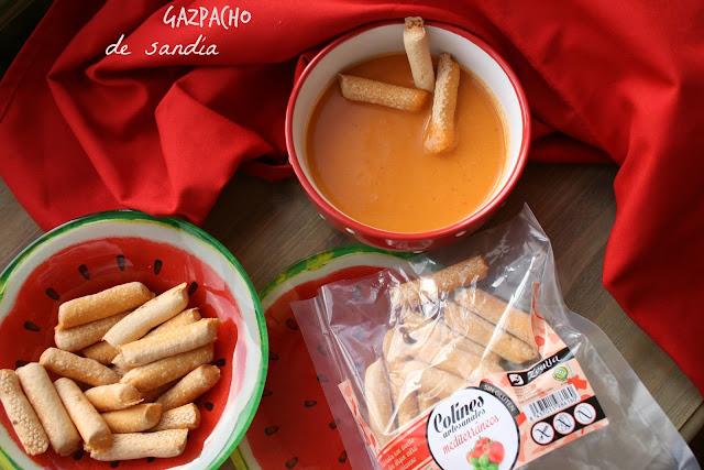 Gazpacho de sandía, sin gluten