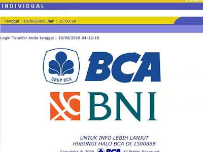 transfer bca bni internet banking