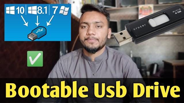 how to make bootable usb windows 10 , 8 ,7