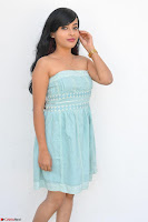 Sahana New cute Telugu Actress in Sky Blue Small Sleeveless Dress ~  Exclusive Galleries 012.jpg