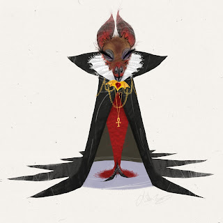 vampire bat wife illustration halloween j shari ewing