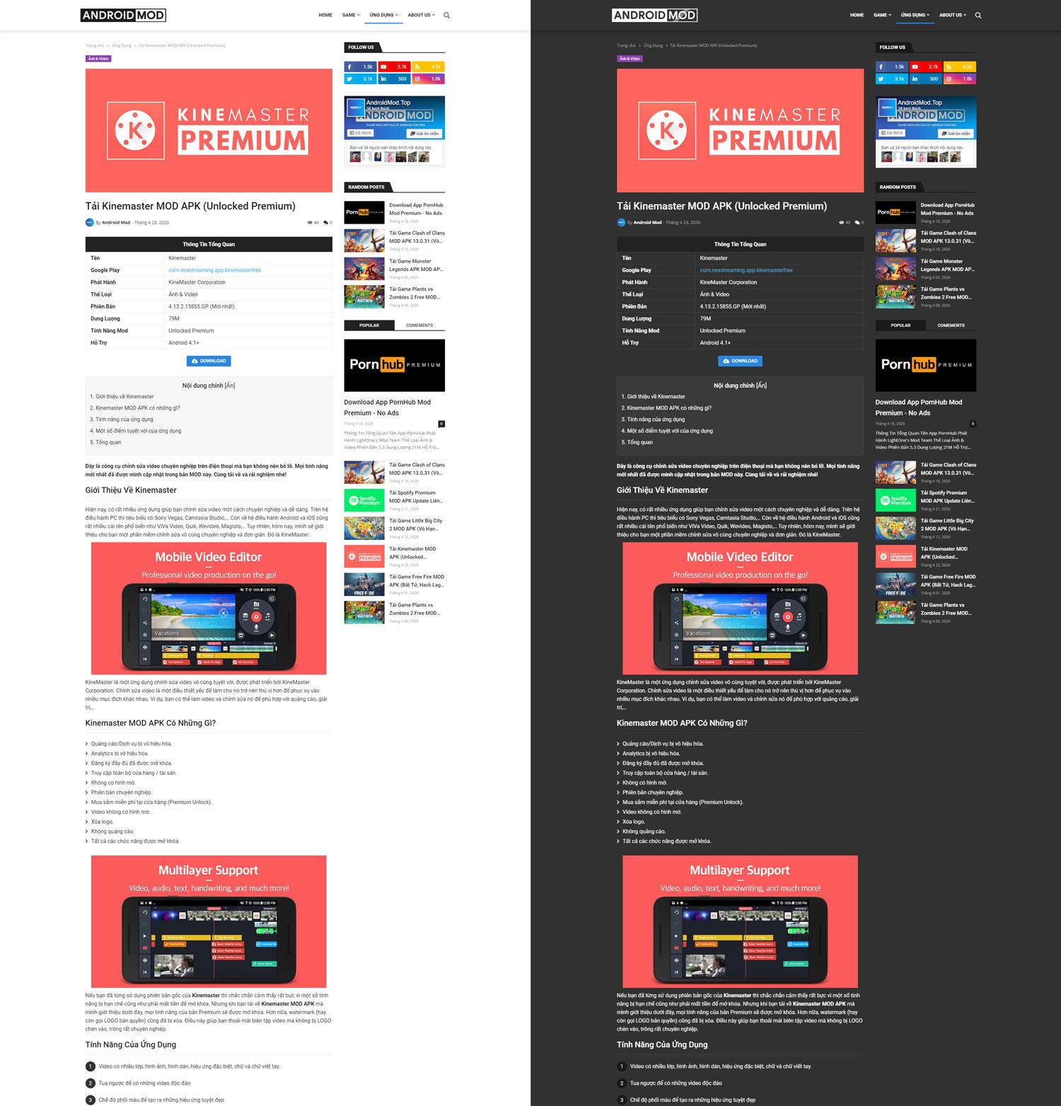 Template Blogspot Startinhit App Premium Version (Template MOD APK)