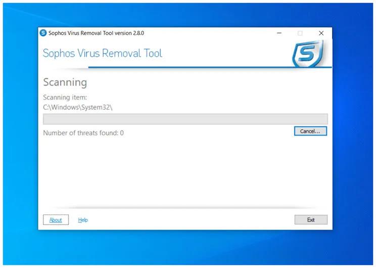 Sophos Virus Removal Tool :  Aφαιρέστε κακόβουλο λογισμικό όπως,  ιούς, spyware, rootkits και fake antivirus