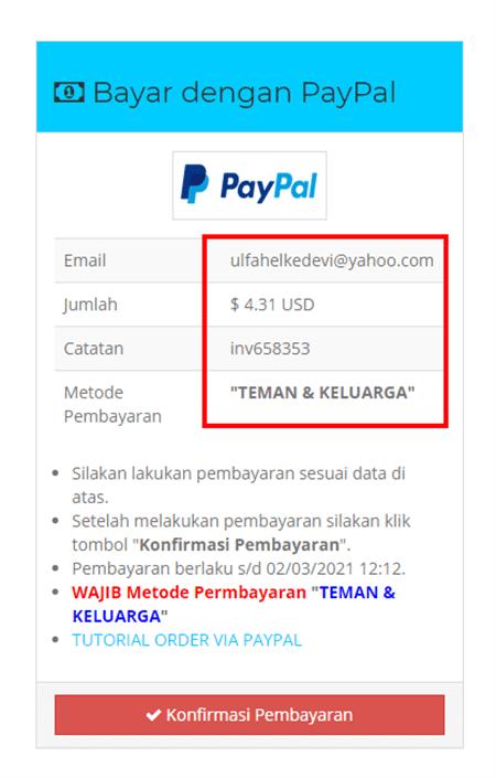 rincian pembelian pulsapedia net
