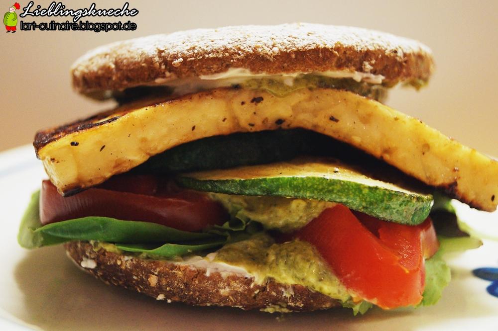 Veggie-Burger mit Gazi-Käse