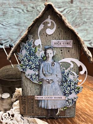 Sara Emily Barker https://sarascloset1.blogspot.com/2019/06/memories-of-home-for-frilly-and-funkie.html Memories of Home Tim Holtz Tiny Houses  8
